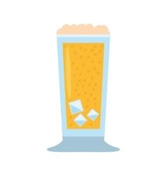 Glass cup drink foam ice vector