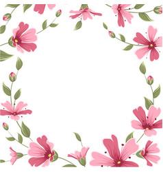 gypsophila babys breath flower border frame wreath vector image vector image