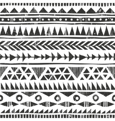 hand drawn tribal print Primitive vector image
