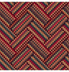 Knit woolen seamless jacquard ornament texture vector image