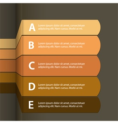 paper infographics vector image