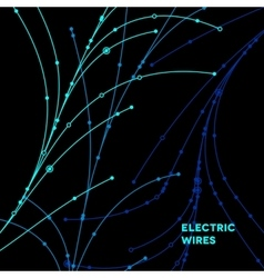 Wire grid made of connected dots vector image