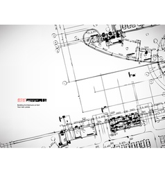 architectural sketches background vector image vector image