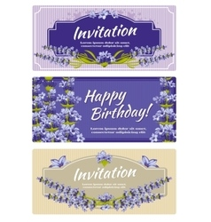 Greeting card wedding invitation template vector image vector image