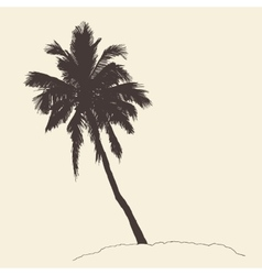 Palm Tree Bounty Vintage Engraving Sketch vector image