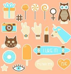 Sticker fashion badges vector image
