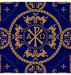 Classic orthodox seamless pattern vector image