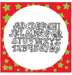 hand drawn english bone font vector image