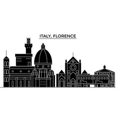 italy florence architecture city skyline vector image