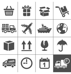 Logistics icons set Simplus series vector image