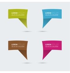 Set of colored speech bubbles vector image