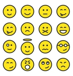 Set of smiley faces vector image