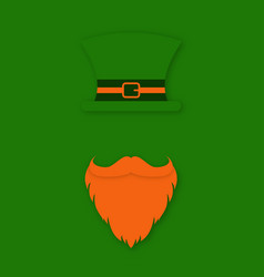 st patrick day character leprechauns hat with vector image vector image