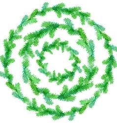 Watercolor evergreen frames vector