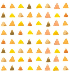 watercolor triangle pattern vector image vector image