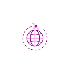 globe symbol and satellites vector image