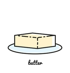 Line art butter icon Infographic element vector image