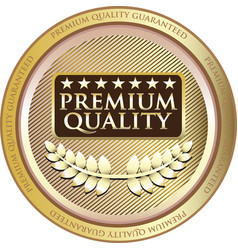 premium quality gold icon vector image vector image