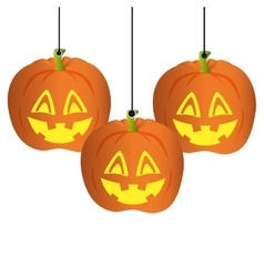 Pumpkin halloween card icon vector