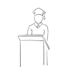 stick graduate for pedestal vector image