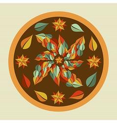 Yoga leaves mandala vector image vector image
