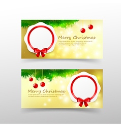 006 Christmas card template for invitation and vector