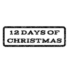 12 days of christmas watermark stamp vector