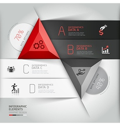 3d infographics business triangle vector