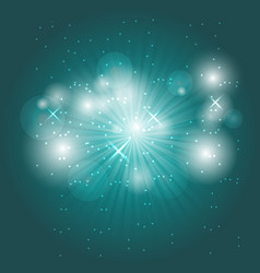 abstract ray light on green background vector image