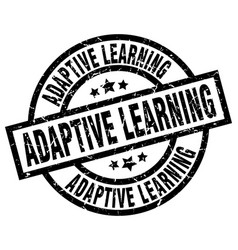 adaptive learning round grunge black stamp vector image