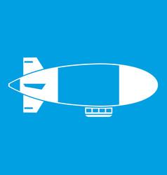 Aerostat airship icon white vector