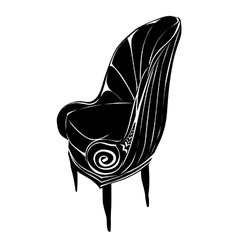 Art deco armchair vector