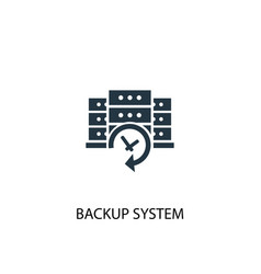 backup system icon simple element vector image