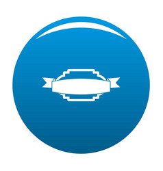 badge premium quality icon blue vector image