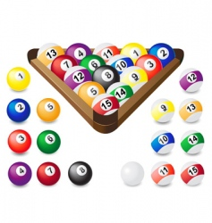 Balls for billiards vector