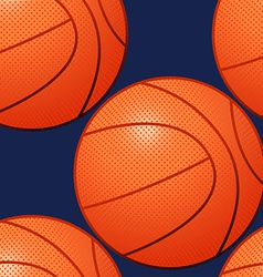 Basketball seamless pattern vector image
