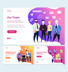 best services developer services to grow followers vector image