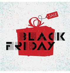 black friday poster white background vector image
