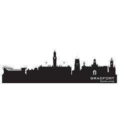 Bradfort England skyline Detailed silhouette vector