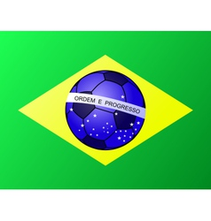 Brasil Brazil football flag vector