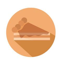 bread piece cake menu bakery food product block vector image