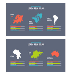 business infographic presentation slides template vector image