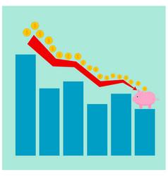 Business low benefit money graph vector