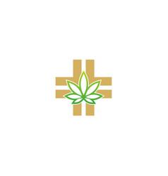cannabis medic cross logo vector image