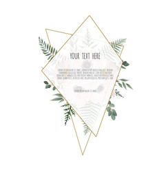 Card with flower rose leaves wedding ornament vector