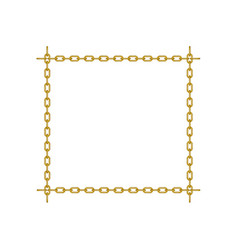 chain in shape of square vector image