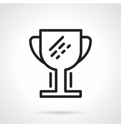 Champion cup black simple line icon vector image