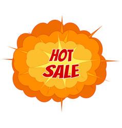 comic sale discount promotion big vector image