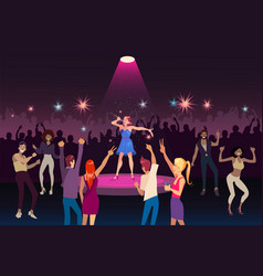 Concert performance disco party with modern music vector