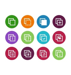 Copy Paste circle icons for Apps Web Pages vector image